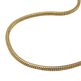 Round snake chain gold plated necklace