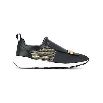 Sergio Rossi women's A80840MFN298400 black leather of sneakers