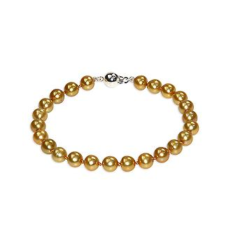 Wife of Golden freshwater cultured pearls and clasp in Silver 925 bracelet