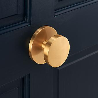 Luxury Solid Brass Gold Circle Centre Door Knob