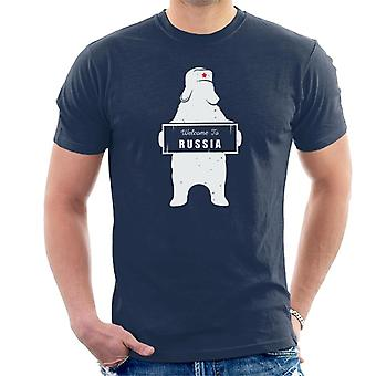 Welcome To Russia Bear Revolution Star Men's T-Shirt