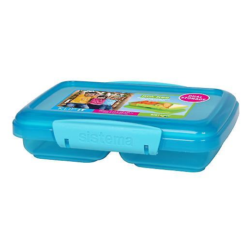 Sistema Lunch rektangulära Split Container blå 350Ml 18015180