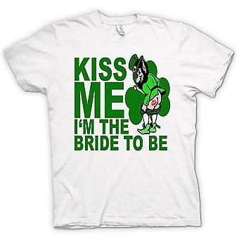 Camiseta mujer - irlandés día de San Patricio Me besan - gracioso
