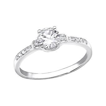 Solitaire - 925 Sterling Silver Jewelled Rings