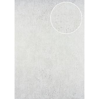 Tone on-tone wallpaper ATLAS here-5131-3 non-woven wallpaper structured in the Shabby chic style shiny white perl-7,035 m2