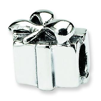 Sterling Silver Polished Antique finish Reflections SimStars Kids Present Bead Charm