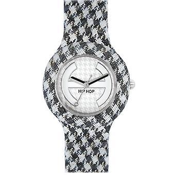 Hip Hop Uhr Silikonuhr Pied de Poule small HWU0372 noir et blanc