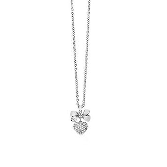 Guess ladies chain necklace stainless steel Silver heart UBN21586