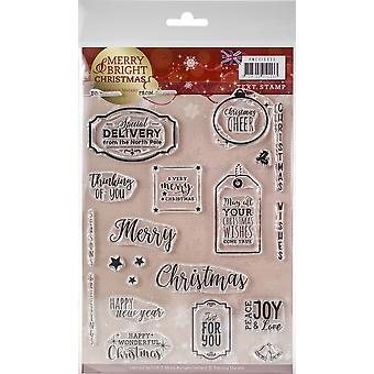 Find It Precious Marieke Merry & Bright Clear Stamps-Text - English