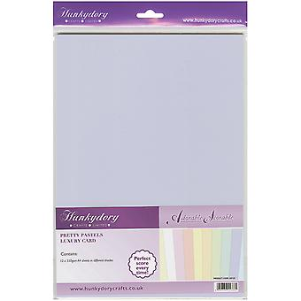 Hunkydory Adorable Scorable A4 Cardstock Pack 10/Pkg-Pretty Pastels