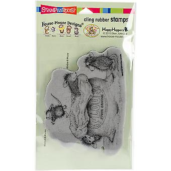 Stampendous House Mouse Cling Stamp 7.75