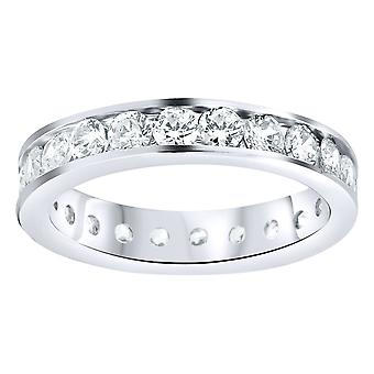 Sterling 925 Silver eternity ring - 4mm channel set