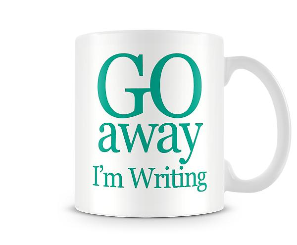 Go Away Im Writing Printed Mug