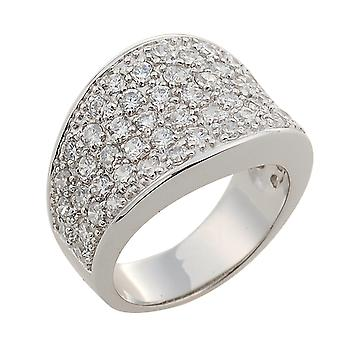 Orphelia Silver 925 Ring Pave Large  ZR-3490