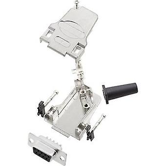 encitech D45ZF09-DMS-K D-SUB receptacle set 45 ° Number of pins: 9 Solder bucket 1 Set