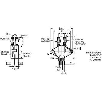 NXP Semiconductors tryck sensor 1 dator MPX2010DP 0 kPa upp till 10 kPa Print