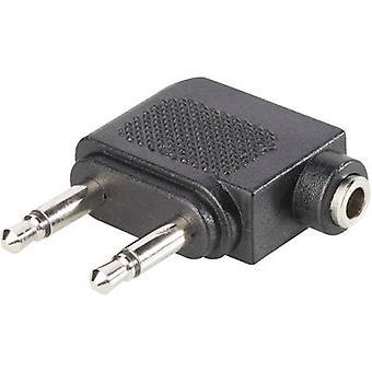 BKL Electronic 1102031 Jack Audio/phono Y adapter [1x Jack socket 3.5 mm - 2x Jack plug 3.5 mm] Black