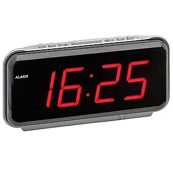 Network alarm silver clock with LED display