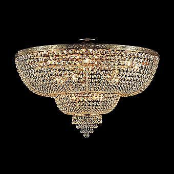 Maytoni Lighting Palace Diamant Crystal Ceiling Lamp, Gold