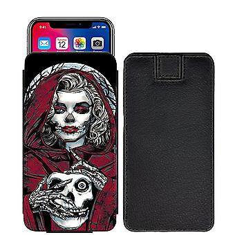 Skull Custom Designed Printed Pull Tab Pouch Phone Case Cover for Xiaomi Mi 5c [S] - skull40_web