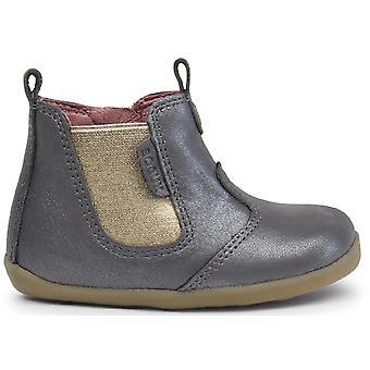 Bobux Step Up Girls Jodphur Boots Charcoal Shimmer