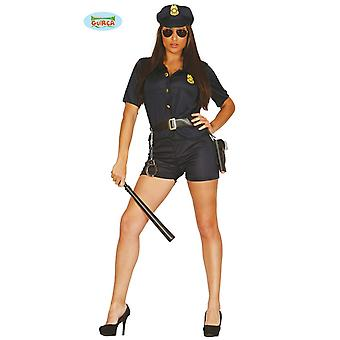 Police woman COP girl Wachtmeisterin costume ladies one size