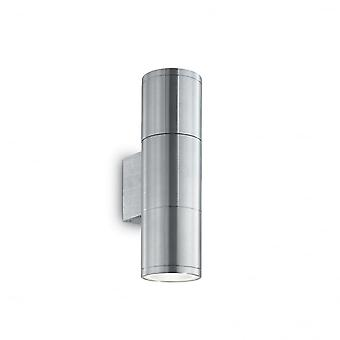 Ideal Lux Gun Outdoor Double Twin Aluminium Up Down Wall Light