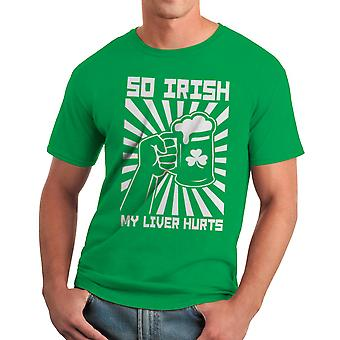 So Irish My Liver Hurts Graphic Men's Kelly Green T-shirt
