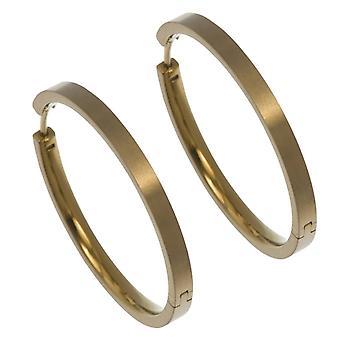 Ti2 Titanium Large Full Hoop Earrings - Tan Beige