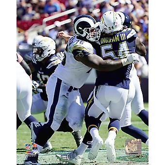 Rodger Saffold 2018 Action Photo Print