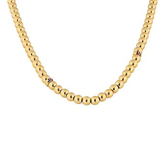 Tommy Hilfiger women's sleek stainless steel necklace gold