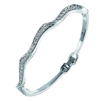Oliver Weber Bangle fijne Rhodium Crystal