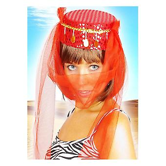 Kapelusze Harem kapelusz czerwony