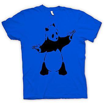 Mens t-skjorte - barna hettegenser - Banksy - Graffiti veggen kunst - Panda Pistol