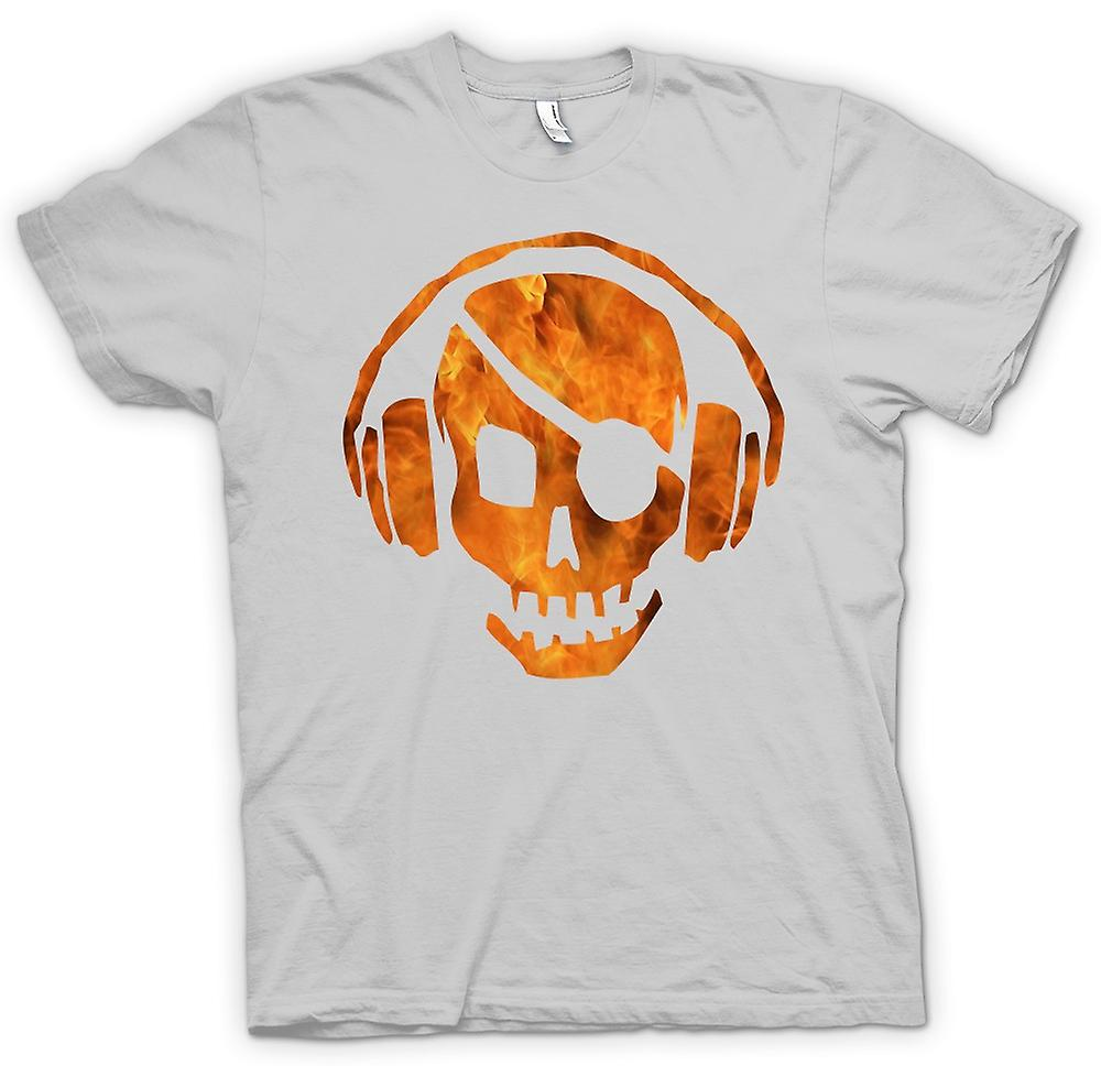Mens T-shirt - Pirate DJ - Anti Piracy