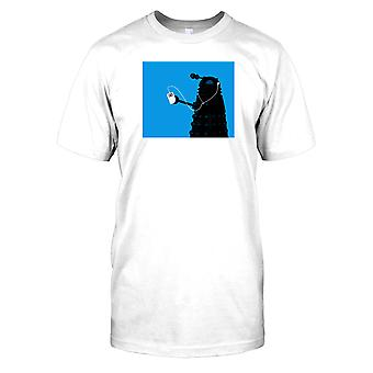 Dalek Listening To Ipod - Cool Sci Fi Kids T Shirt