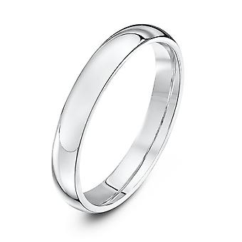 Star Wedding Rings Platinum Heavy Court Shape 3mm Wedding Ring