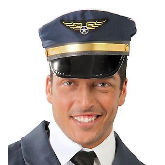 Mens Pilot Hat Fancy Dress accessoire