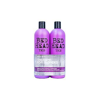 BED HEAD by TIGI Dumb Blonde Shampoo & Conditioner 750ml