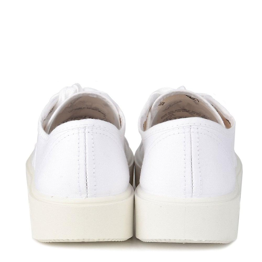 0b16aae5672 Victoria Shoes Utopia White Canvas Platform Trainer