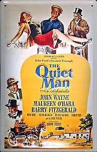 Quiet Man (John Wayne) embossed steel sign