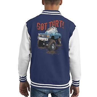 Monster Truck Got Dirt Kid's Varsity Jacket