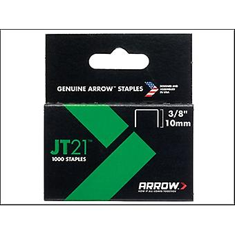 STAPLES FOR JT21 T27  BOX 1000 10MM 3/8IN