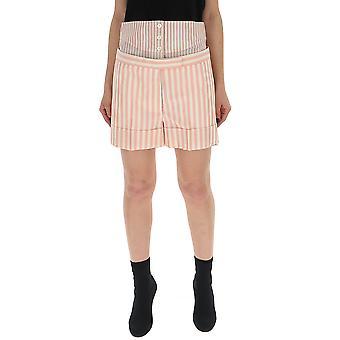 Thom Browne weiß/rosa Seide Shorts