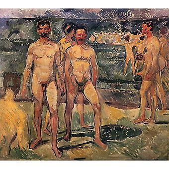 Bather,Edvard Munch,50x45cm