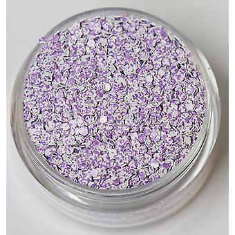 Tofarget sekskant glitter lys lilla hvit