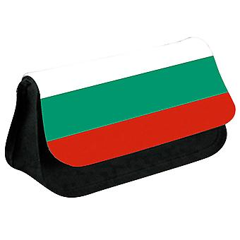 Bulgaria Flag Printed Design Pencil Case for Stationary/Cosmetic - 0026 (Black) by i-Tronixs
