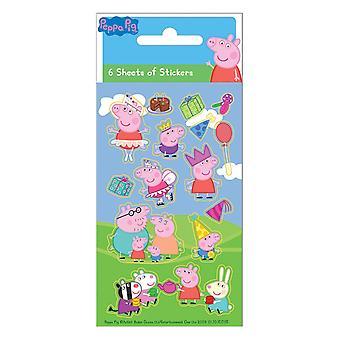 Peppy Pig Greta Pig Stickers 6pcs sheet Foiled Stickers