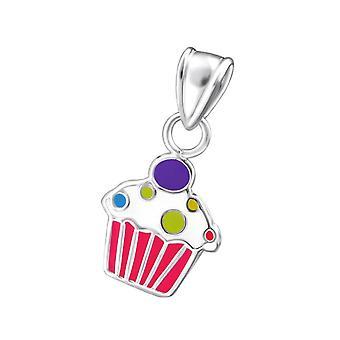 Petite Sterling Silver Cupcake Pendant