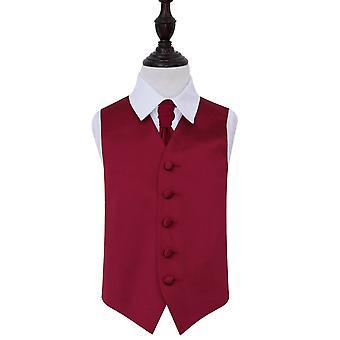 Llano de Borgoña novia chaleco y corbata conjunto para niños
